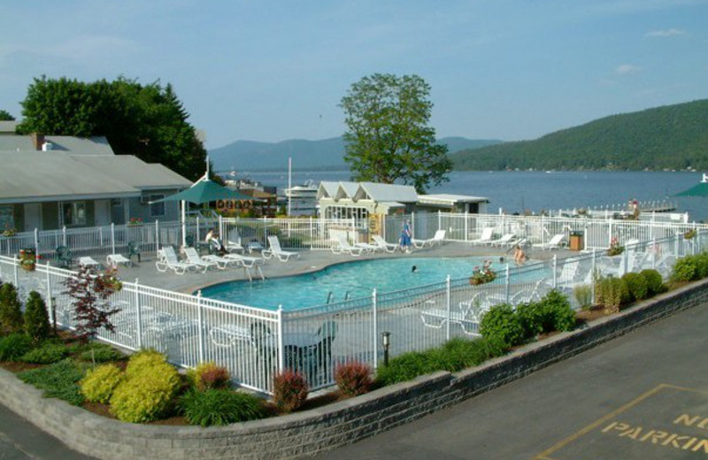 Outdoor pool at Marine Village Resort.