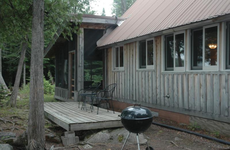 Cabin exterior at Heston's Lodge.