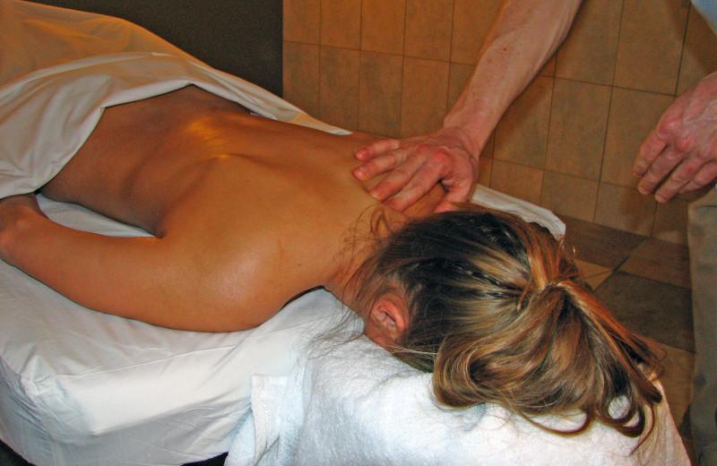 Spa massage at Banff Caribou Lodge.