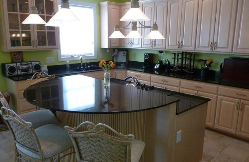 Vacation rental kitchen at Myrtle Beach Vacation Rentals.