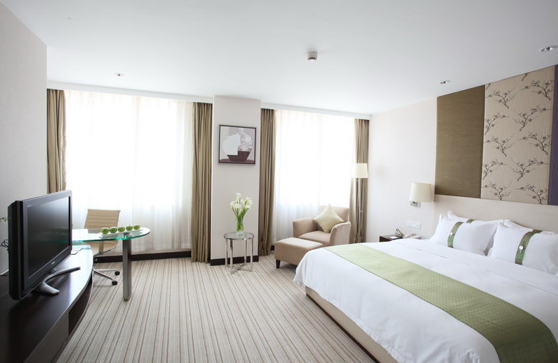 Guest room at Holiday Inn Nanjing.