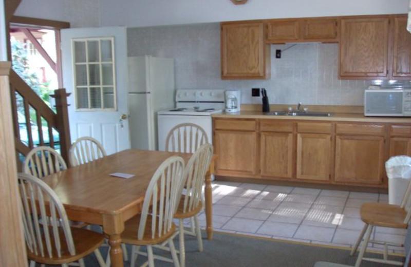 Cabin kitchen at Boulders Resort.