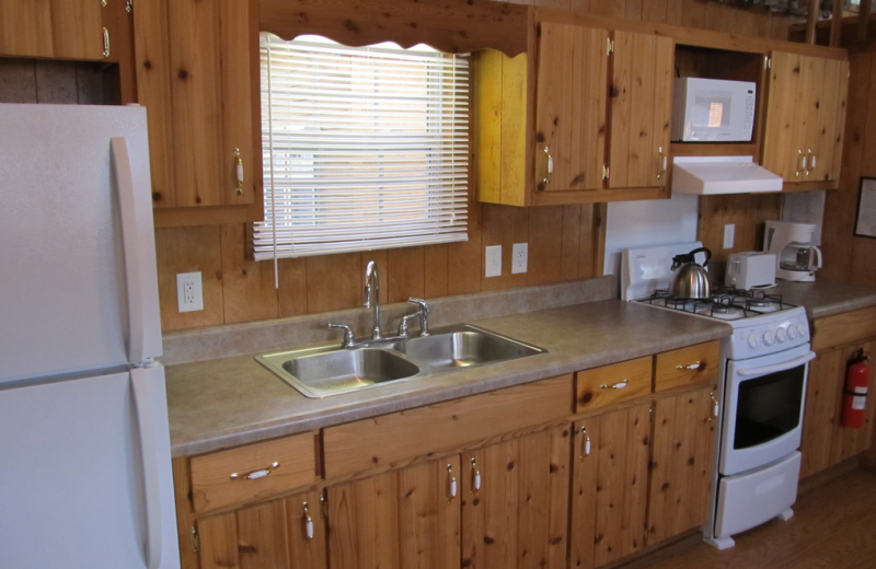 Cabin kitchen at Miami Everglades.