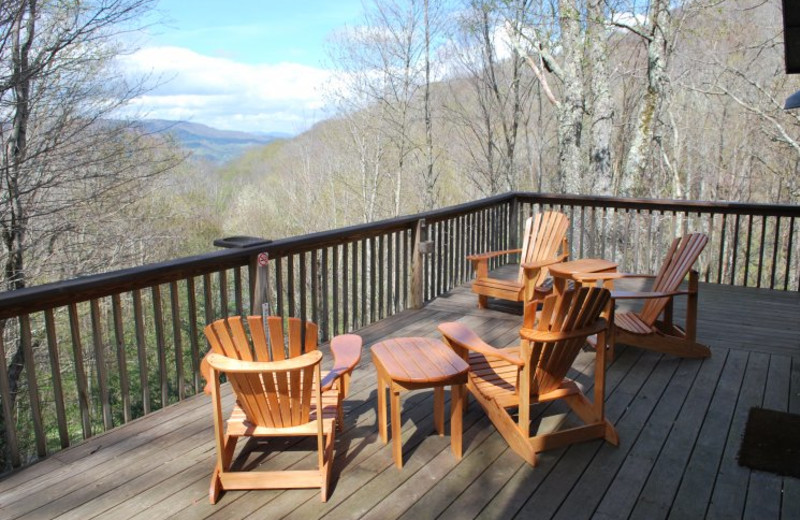 Cabin deck at Linville Cabins.