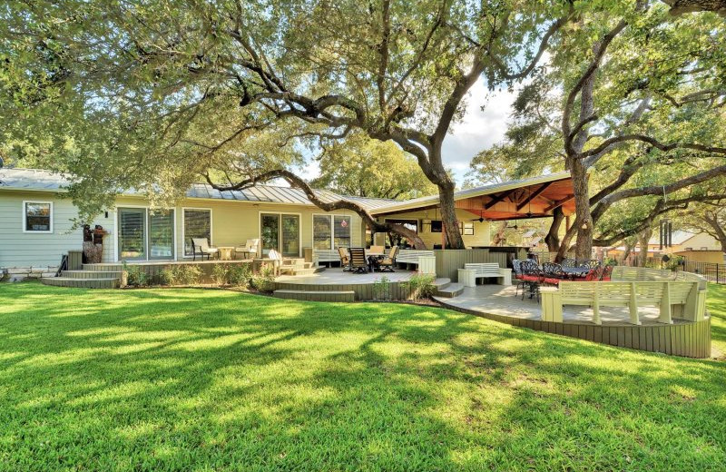Exterior view of Shady Grove Vacation Home on Lake LBJ.