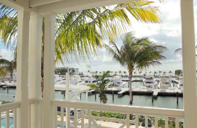 Balcony view at Oceans Edge Key West Resort & Marina.