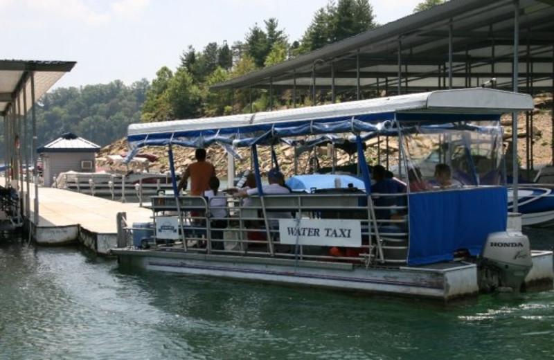 Water shuttle at Jamestown Resort and Marina.