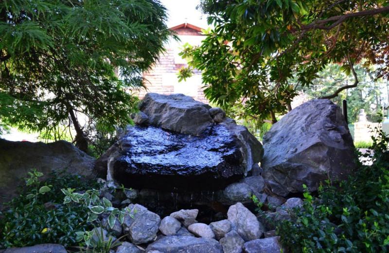 Garden at La Conner Channel Lodge.