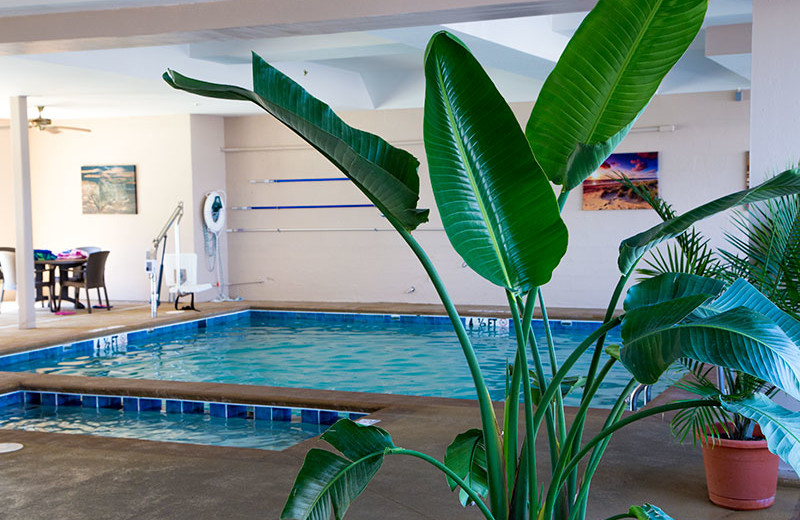 Indoor pool at Flagship Oceanfront Hotel Ocean City.