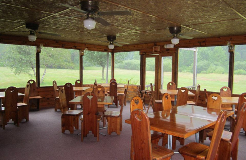 Dining room at Cold Spring Lodge.