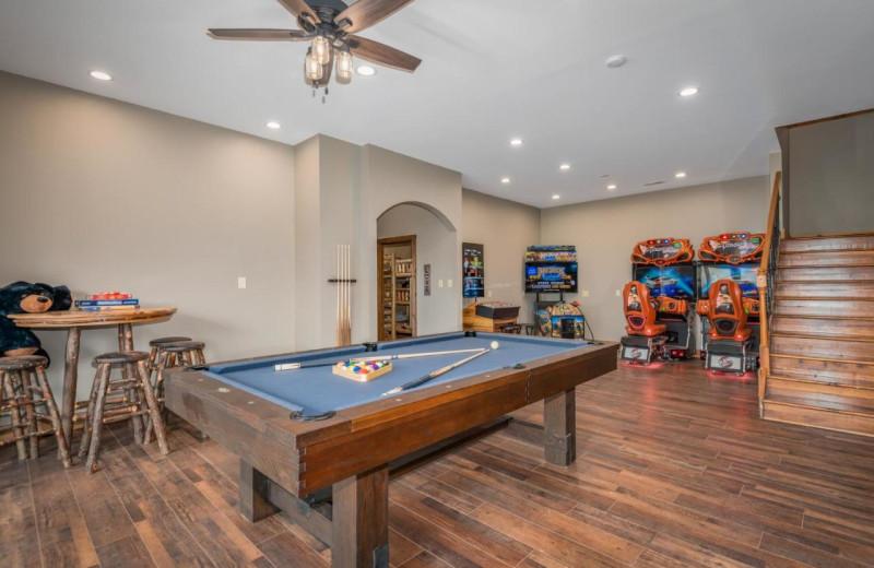 Rental rec room at Stony Brook Cabins LLC.
