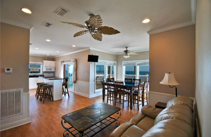 Rental interior at Dauphin Island Beach Rentals, LLC.