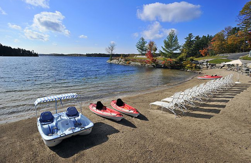 The beach at The Rosseau, A JW Marriott Resort & Spa.