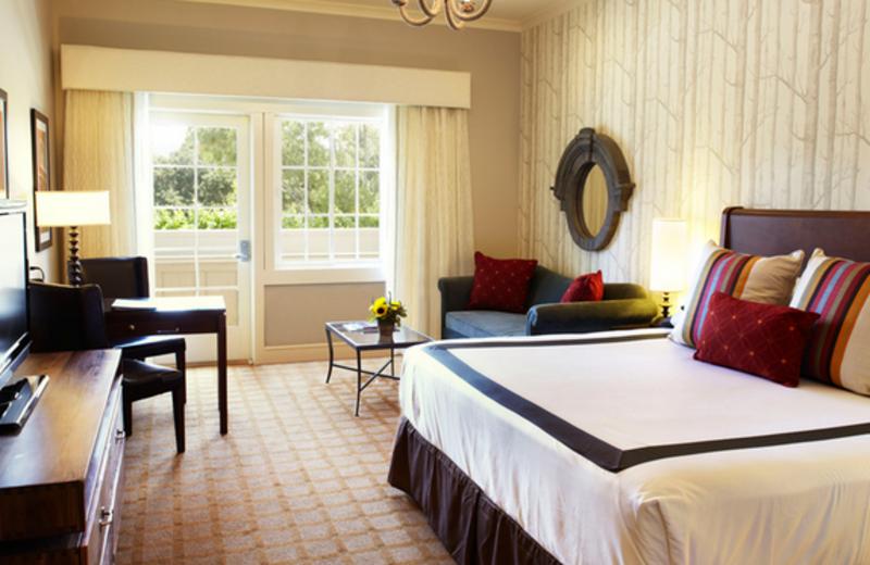 Guest room at River Terrace Inn.