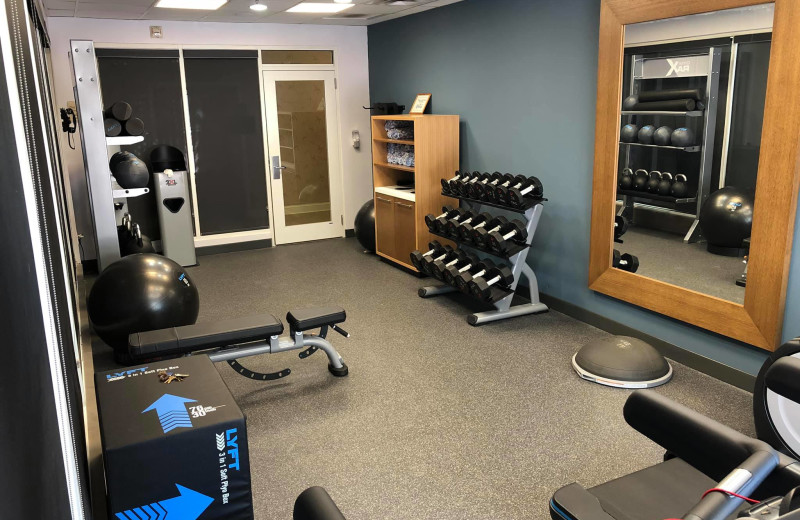 Fitness room at Hilton Garden Inn Outer Banks/Kitty Hawk.