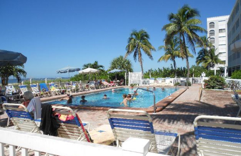 Outdoor pool at Windward Passage Resort.