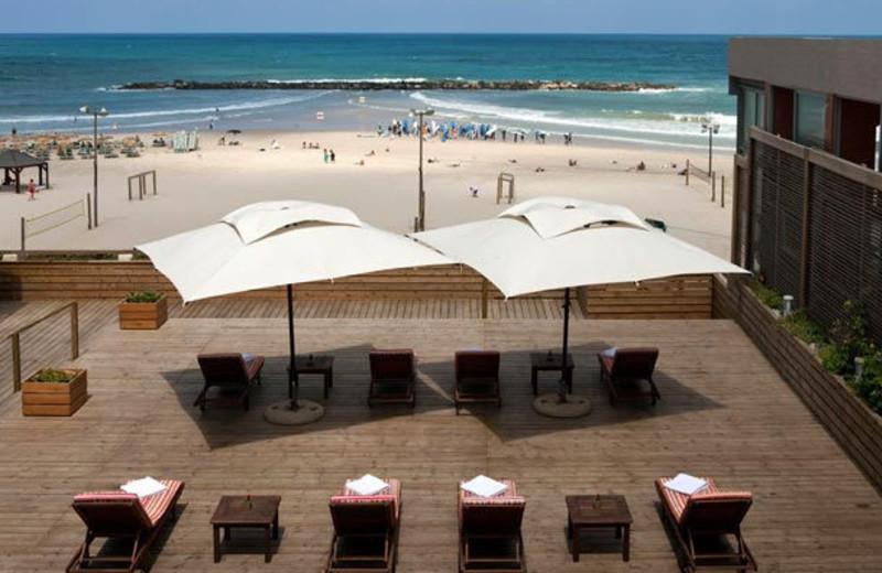 Beach at Renaissance Tel Aviv Hotel.