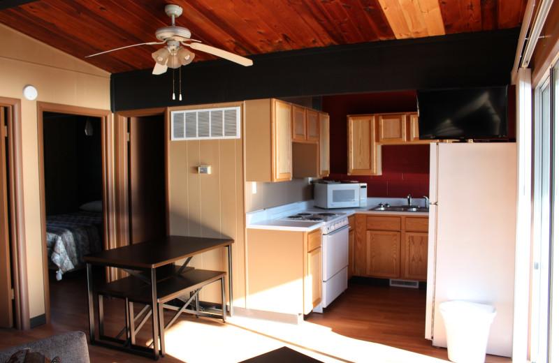 Guest kitchen at Hawks Landing Resort.