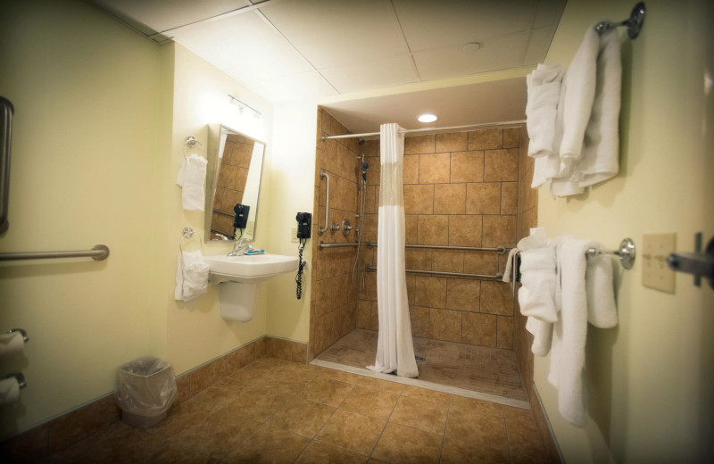 Accessible roll-in bathrooms at The Oceanfront Inn.