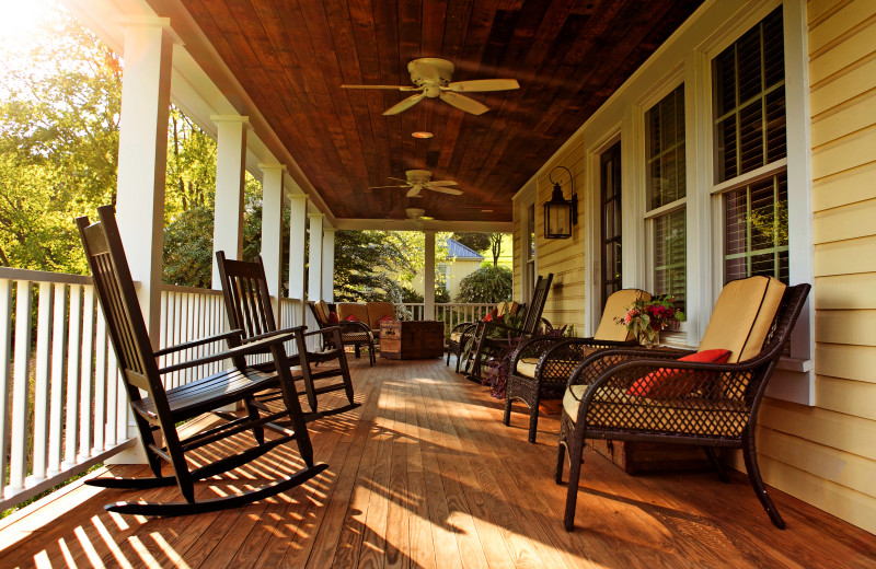 Porch at The Inn at Willow Grove.