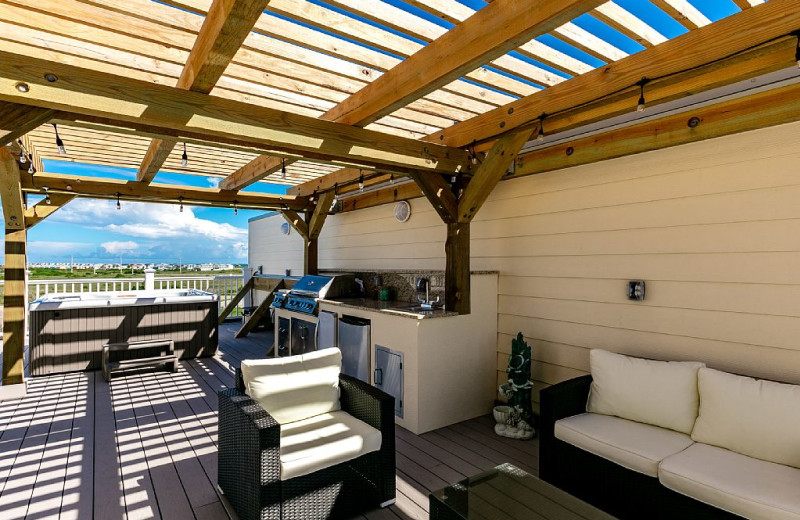 Rental patio at Silver Sands Realty.