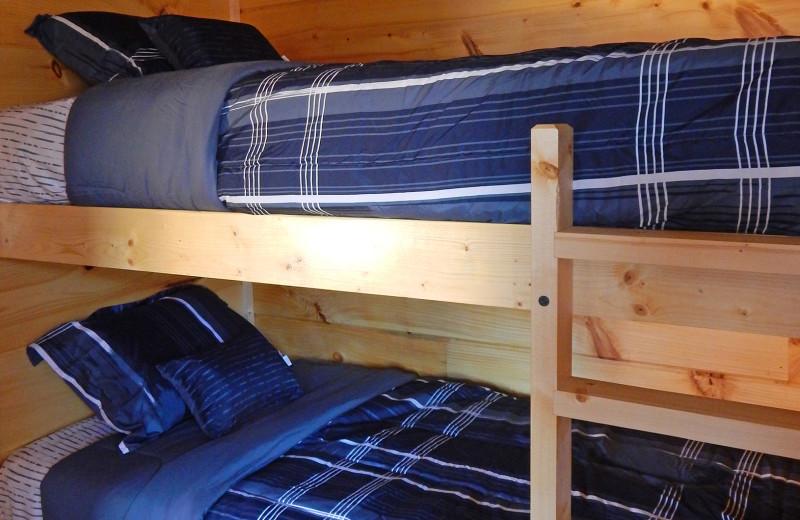 Cabin bunk beds at Yogi Bear's Jellystone Park™ Camp-Resort in Gardiner, NY.
