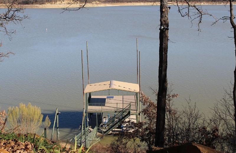 Lake view at Waterfront Luxury Lake Lodge.