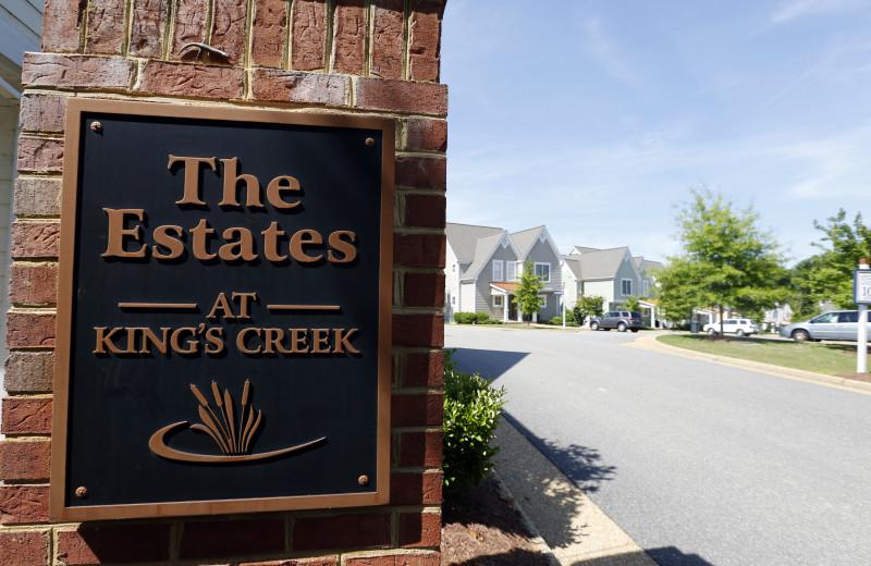 Vacation rentals at King's Creek Plantation.
