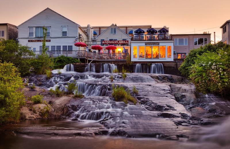 Waterfall near Mount Battie Motel.