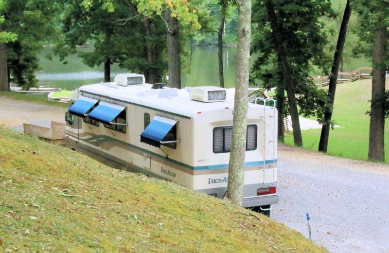 RV camp at Lynnhurst Family Resort.