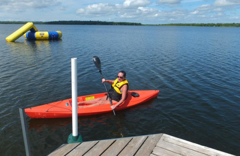 Kayaking at Timber Trails Resort.