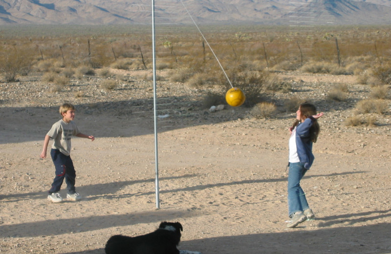 Tether ball at Stagecoach Trails Guest Ranch.