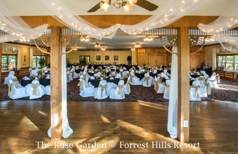 Wedding reception at Forrest Hills Resort.
