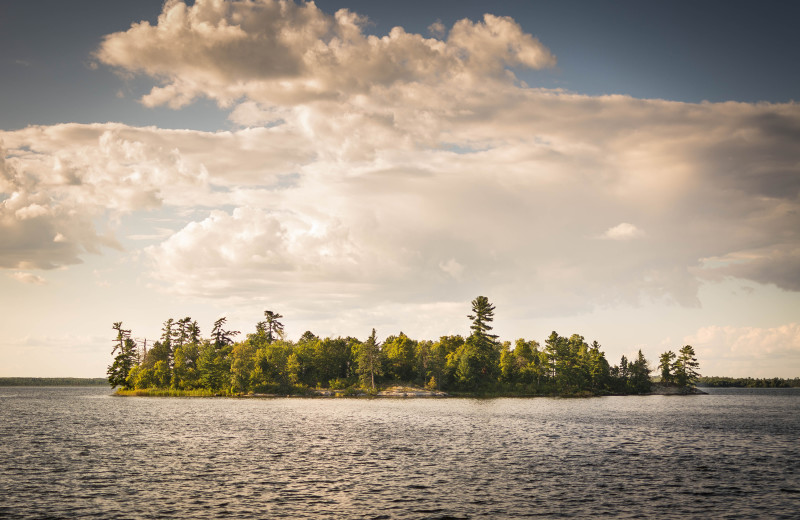 Lake Kabetogama island at Birch Grove Resort.
