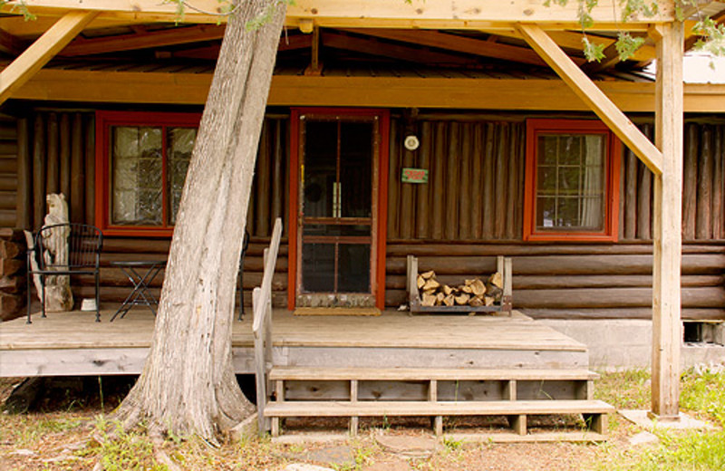 Exterior font cabin view at Heston's Lodge .