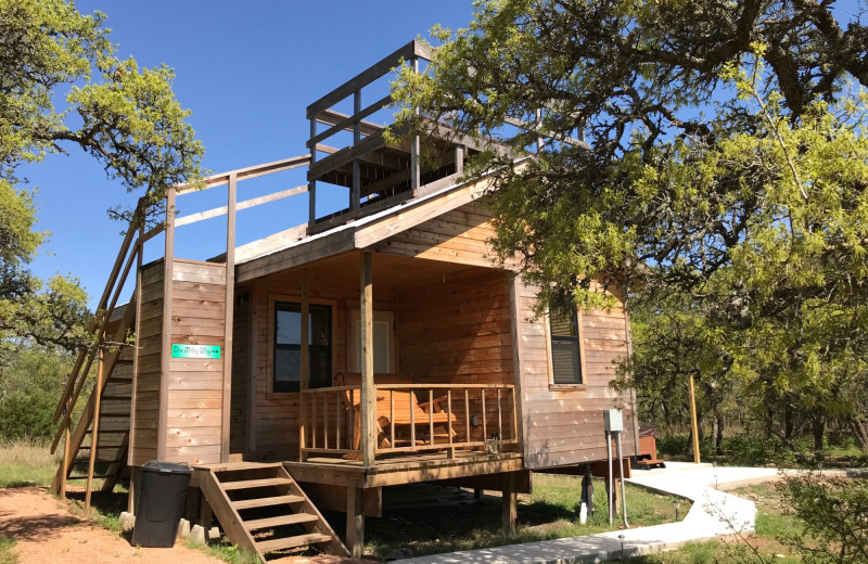 Exterior view of Walnut Canyon Cabins.
