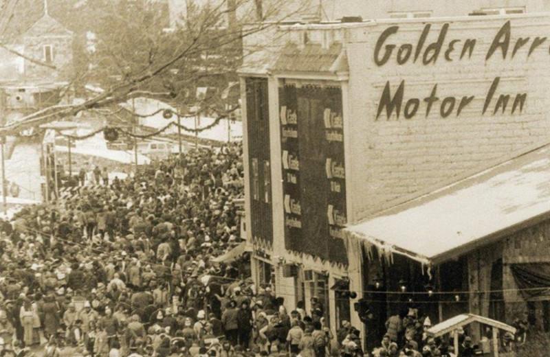 Historic photo of Golden Arrow Lakeside Resort.