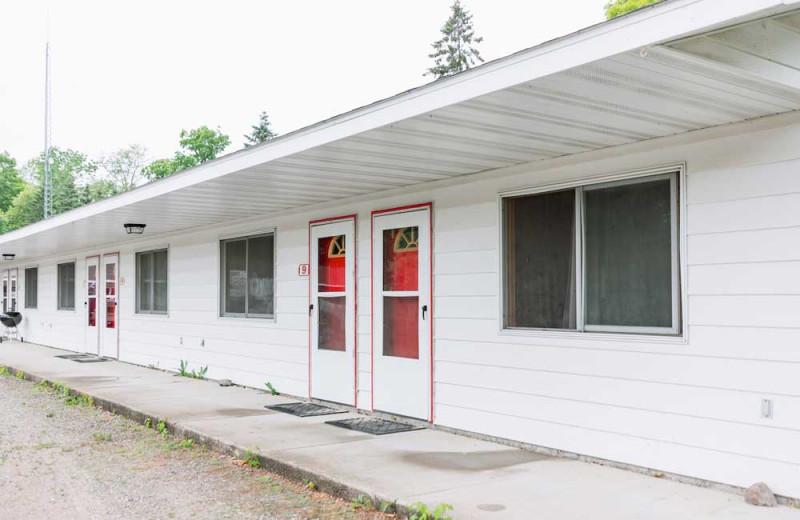 Motel exterior at The Red Door Resort.