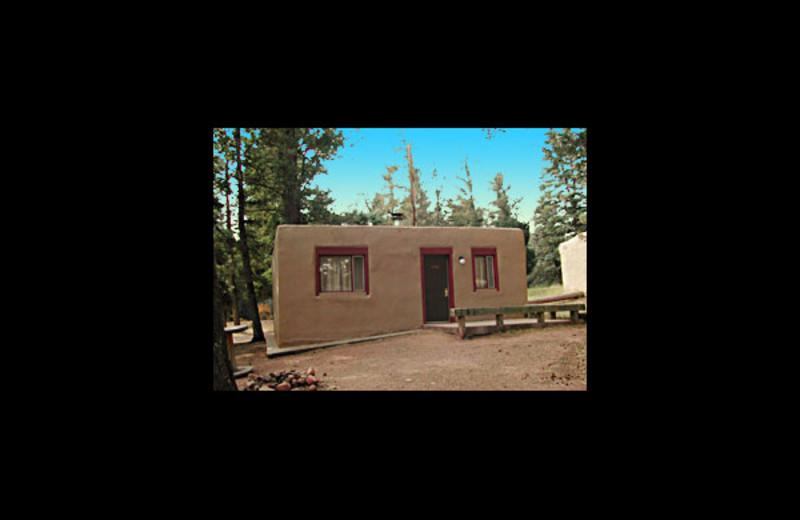 Cabin exterior at Monument Lake Resort.