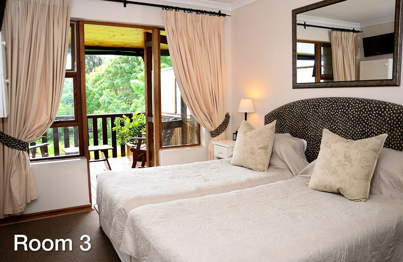 Guest room at Pumula Lodge.
