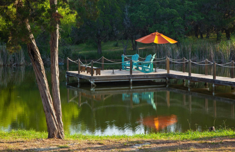 Fishing dock at Camp Balcones Spring.