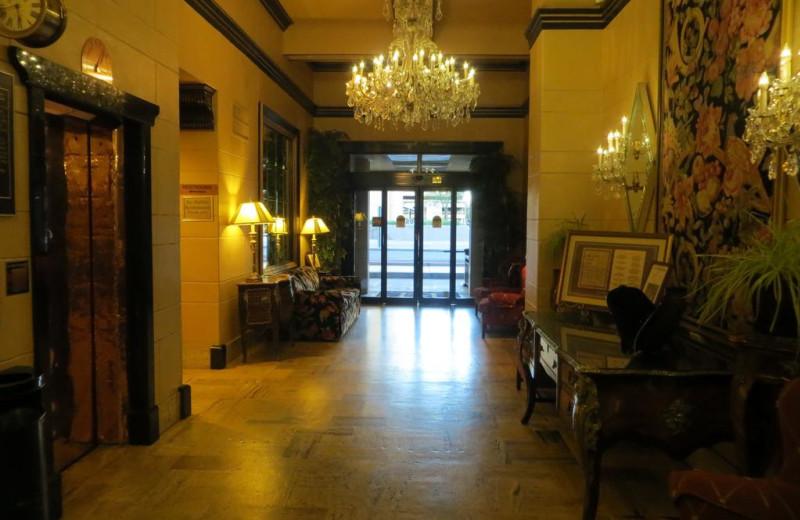 Lobby at Hotel San Carlos.