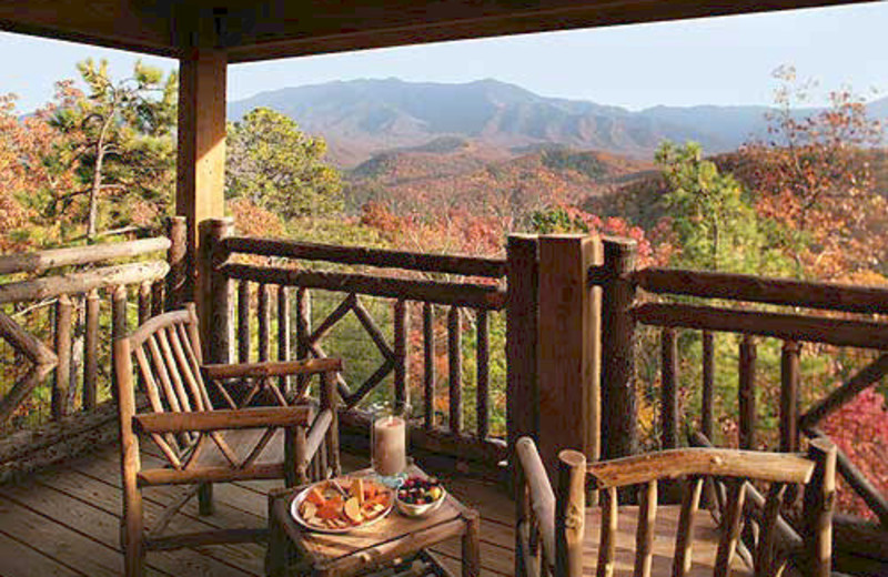 Private Porch at The Lodge at Buckberry Creek