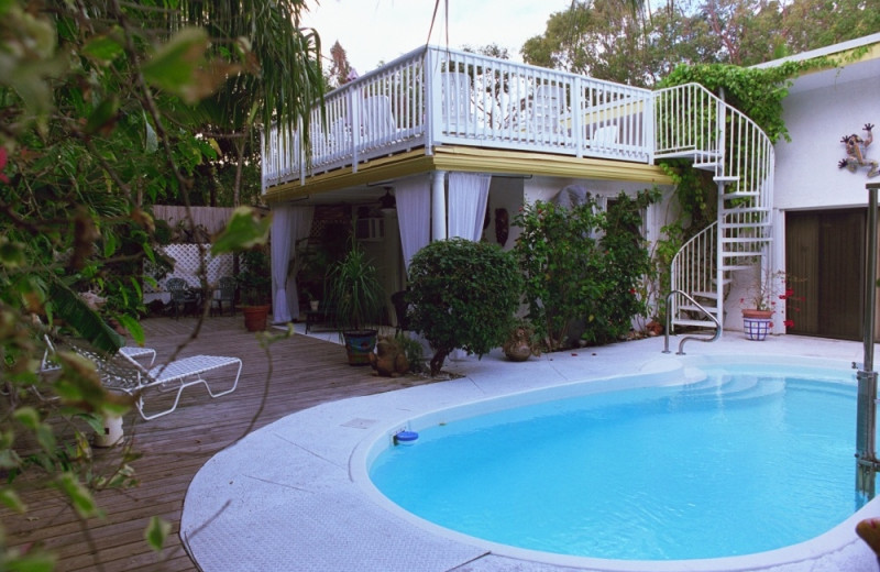 Outdoor pool at Casa Thorn Bed & Breakfast.