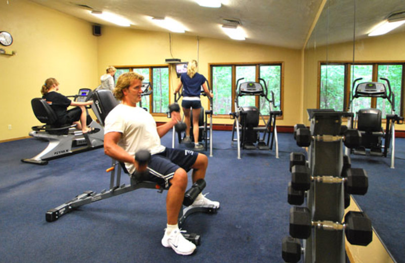 Fitness room at Landmark Resort.