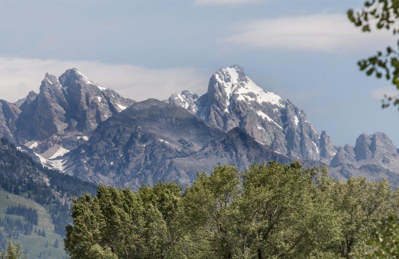 Mountains near Fireside Resort at Jackson Hole.