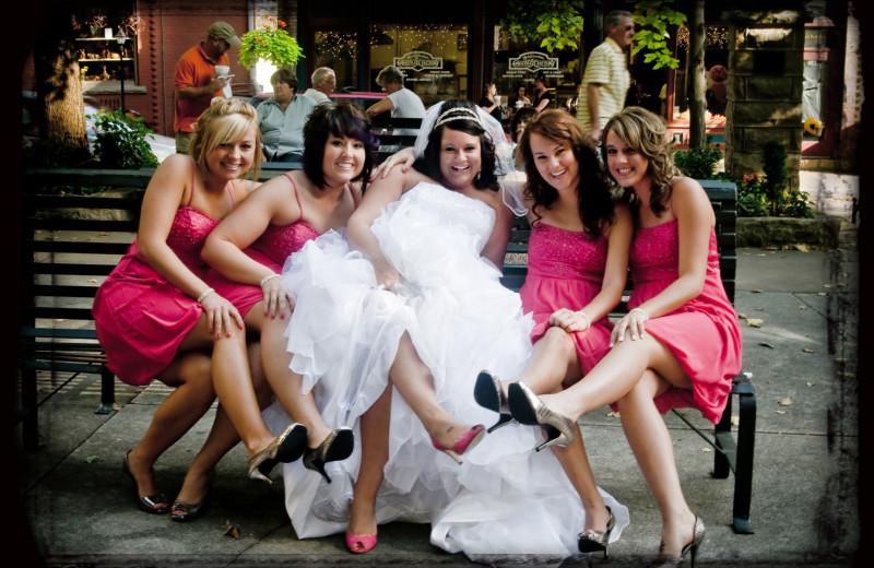 Bridal party at 1905 Basin Park Hotel.