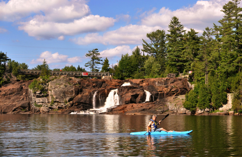 Kayaking at Shamrock Bay Resort.