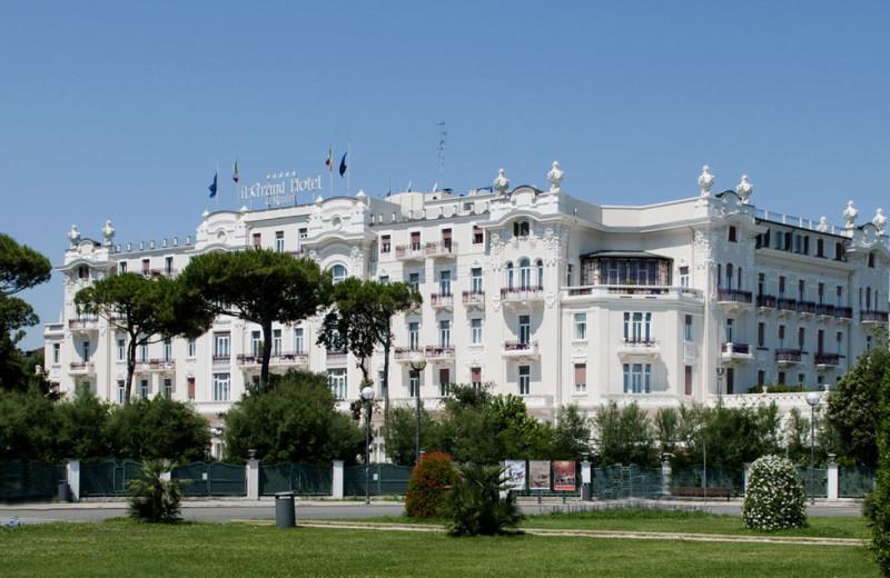 Exterior view of Grand Hotel of Rimini.