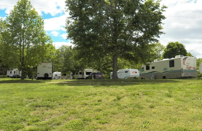 RV camp at Runaway II Resort and Campground.
